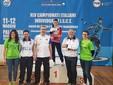 Premiazioni Individuali da sn Sean Filippella, Julia Filippella (Campionessa d'Italia Individuale Categoria Ladies), Filippo Filippella