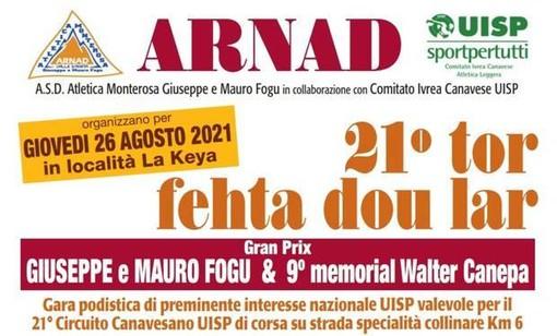 Tor Fehta dou Lar: si corre giovedì 26 agosto ad Arnad in ricordo di Mauro e Giuseppe Fogu