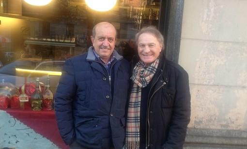 Renzo Bionaz (sn) con Josè Altafini