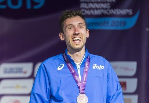 Xavier Chevrier sul podio di Zermatt