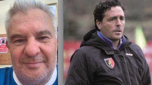 Mauro Poletti con Fermanelli, allenatore della prima squadra