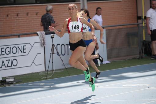 Eleonora Foudraz in un arrivo dei 400 metri.