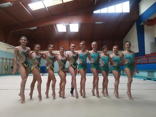 Le ginnaste della Gym Aosta e di Ritmica Piemonte