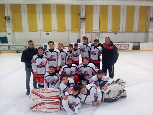 Hockey ghiaccio: U13; sconfitti dal Pinerolo i combattivi Gladiators