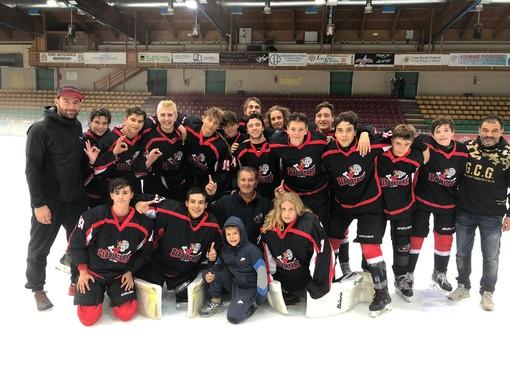 Hockey ghiaccio: L'U17 dei Gladiators espugnano il Fassa Alleghe