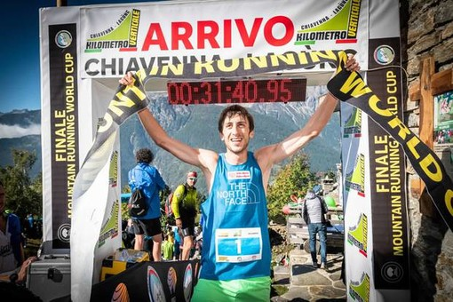 Henri Aymonod vincitore a Chiavenna (foto Gulberti Fidal)
