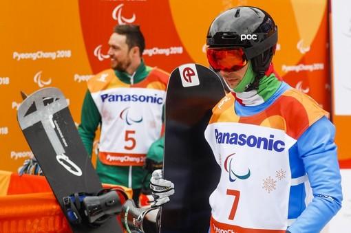 Coppa del Mondo di ParaSnowboard: Jacopo Luchini impegnato a La Molina
