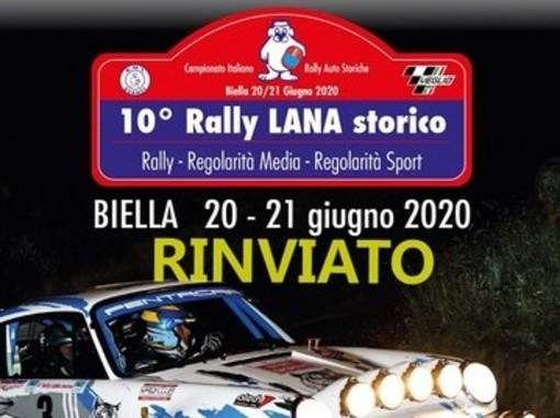 Rally: Rinviato il decimo 'Lana Storico' di Biella