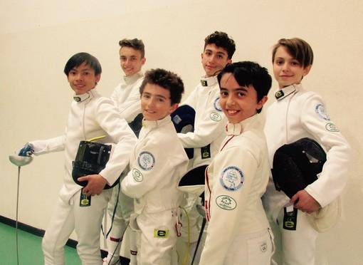 Da destra: Guglielmina Geremia, Leonardo Di Tommaso, Leonardo Artosi, Alessandro Russotto, Lorenzo Pignatelli, Pietro D'Aquino