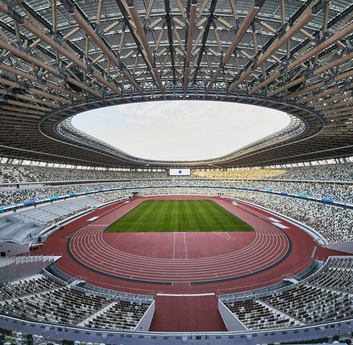 Nella foto l'Olympic Stadium - Credit Photo: @Tokyo2020