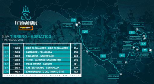 Ciclismo: 55^ Tirreno-Adriatico, ritorna l'arrivo in salita e niente cronosquadre