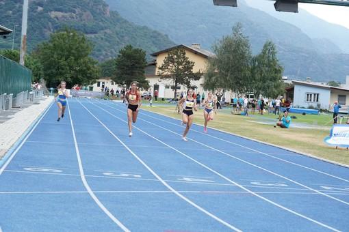 Eleonora Marchiando impegnata nei 100 metri