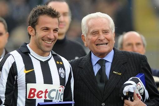 Giampiero Boniperti con Del Piero con Alessandro Del Piero