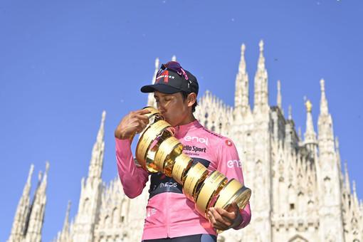 GIRO D'ITALIA: Il 104^ a Egan Bernal, Filippo Ganna primo nella cronometro finale