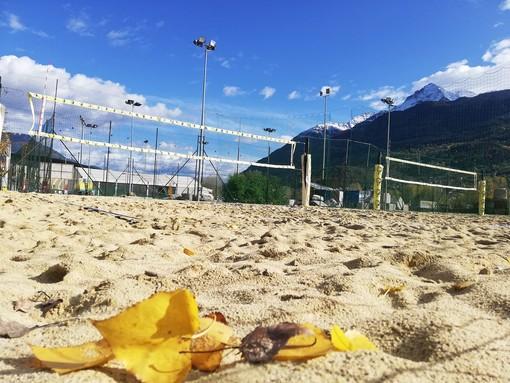 Il beach volley organizzato al campo di Sarre lo scorso anno durante la Festa dello Sport
