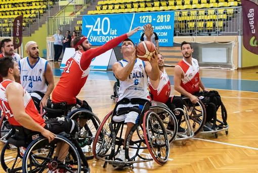 Europei di basket in carrozzina. Prima vittoria degli azzurri contro l'Austria
