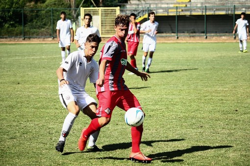 Leonardo Battilani (a sn) in azione