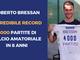 Calcio: Roberto Bressan 4000 partite nel calcio amatoriale in 8 anni