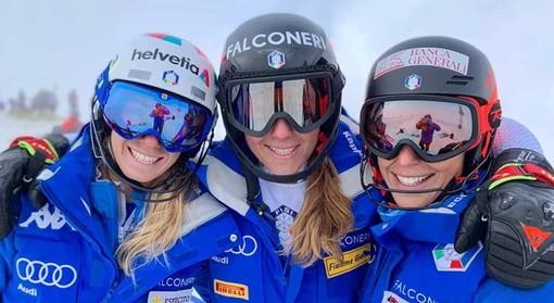Marta Bassino, Sofia Goggia e Federica Brignone