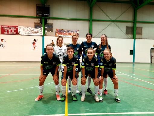 Le ragazze dell'Aosta Calcio 511 di futsal
