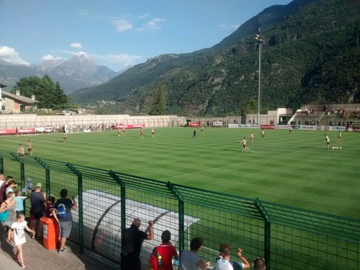 Lo stadio Brunod a Chatillon