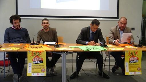 Un momento della conferenza stampa di presentazione della gara