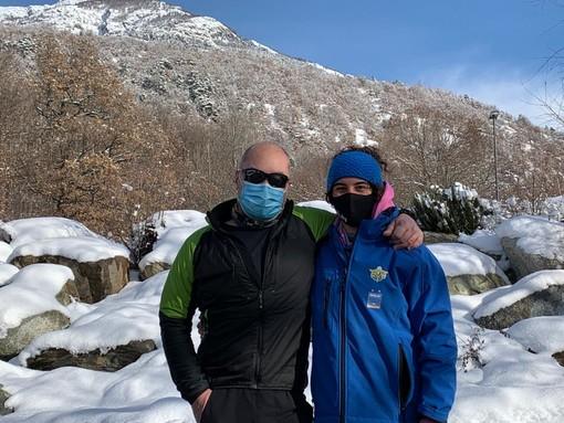 Martina Gallieni e Francesco Fognier al termine di una sessione di allenamento