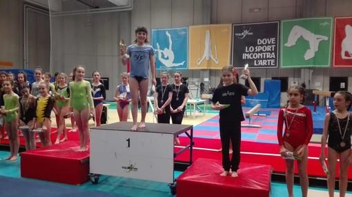 Il podio delle Allieve 2 con la vittoria di Janis Picchiottino e il 3° posto di Sofia Farinet