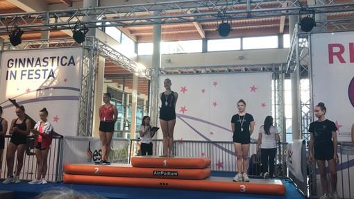 Giorgia LUcarelli sul podio