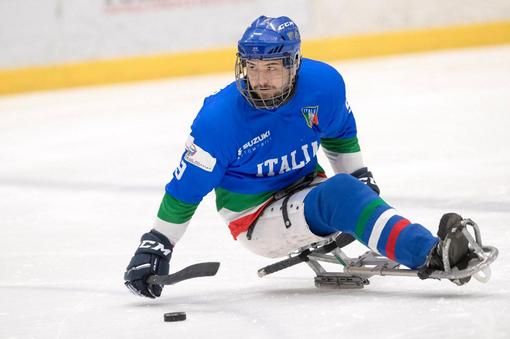 Para ice hockey. Sandro Kalegaris, il bomber azzurro che gioca duro e pesca tonni da record in mare aperto