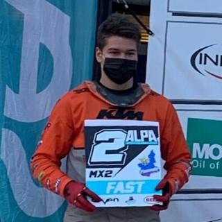 Nicolas Seris, pilota valdostano e tesserato nel Motoclub Starcross MX Verrès
