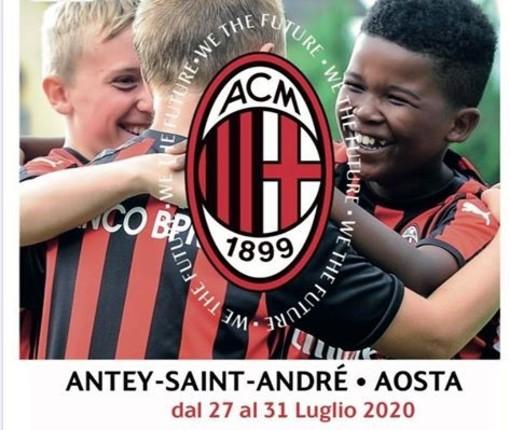 Calcio: Il  Milan Academy Junior Camp arriva ad Antey dal 27 al 31 luiglio