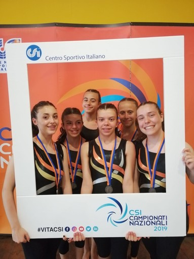Ginnastica: Brave le ginnaste dell'Olimpia alla finalr campionato nazionale CSI