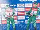 Federico Pellegrino e Francesco De Fabiani festeggiano un podio nel 2018