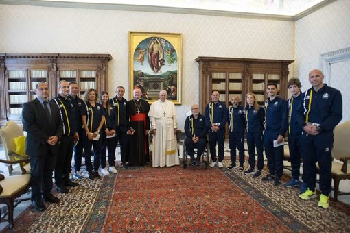 """Papa Francesco incontra Athletica Vaticana: """"Testimoniate la cultura della Fraternità"""""""