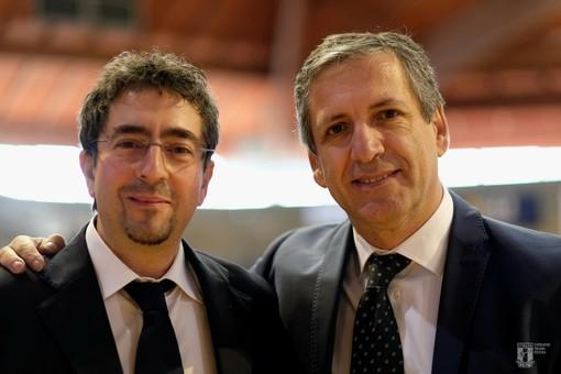 Flavio Serra (sn) con Antonio Urso