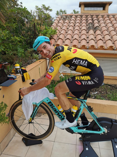 Primoz Roglič del Team Jumbo – Visma sarà al via della tappa di sabato del Giro d'Italia Virtual