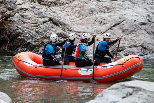 Vda rafting team: Carlotta, Elodie, Gaia, Letizia