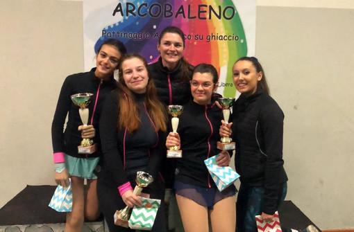 Da sin: Gaia Caglianone,Gaia Zamponi, Romina Poli (allenatrice), Elodie De Lio e Selma Tomei