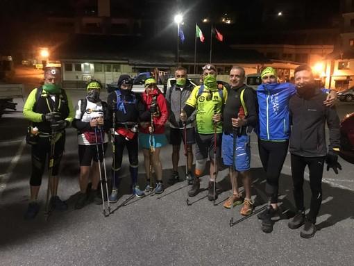 Bruno Brunod con gli atleti del Tor in Gamba
