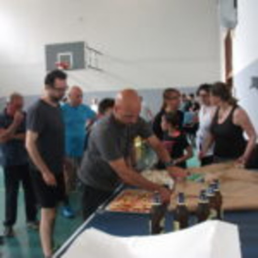 """Premiazione del torneo """"RED"""" con da sx Gregorio Menel, René Macori, Brigitte Macori e Celeste Fea"""