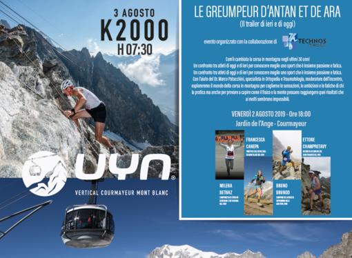 Trail: I campioni Kilian Jornet ed Emilie Forsberg al via del Uyn vertical Courmayeur Mont Blanc