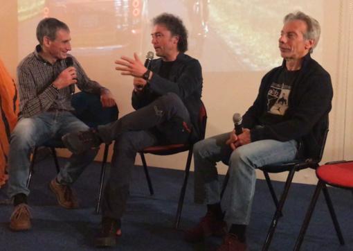 Da sn Renato Piumati, Nico Valsesia e Giovanni Storti